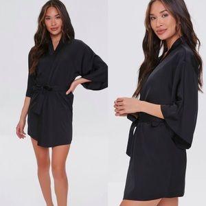 Black Silk Like Robe/Kimono.